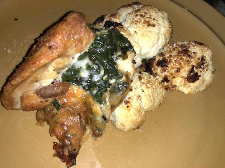 baked chicken with spinich stuffing