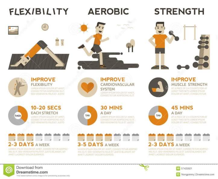 exercise-infographic-illustration-types-exercises-flexibility-aerobic-strength-training-57425921