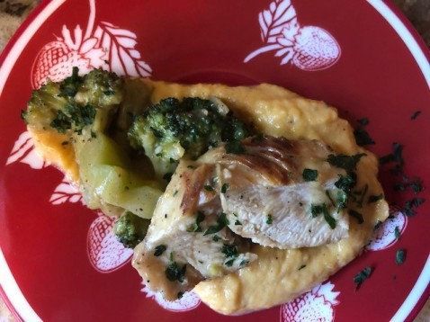 CREAMY CHICKEN WITH BUTTENUT SQUASH MASH 1